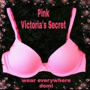 "Pink Victoria's Secret ""wear everywhere"" demi bra"